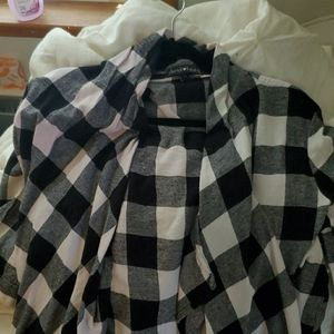 Dressy flannel sweater
